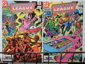 JUSTICE LEAGUE of AMERICA (DC,1960) #219-220 JSA crossover! Roy Thomas