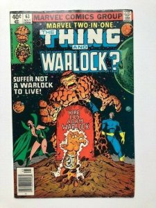MARVEL Two in one THE THING and WARLOCK #63 newsstand ed. FINE (A293)