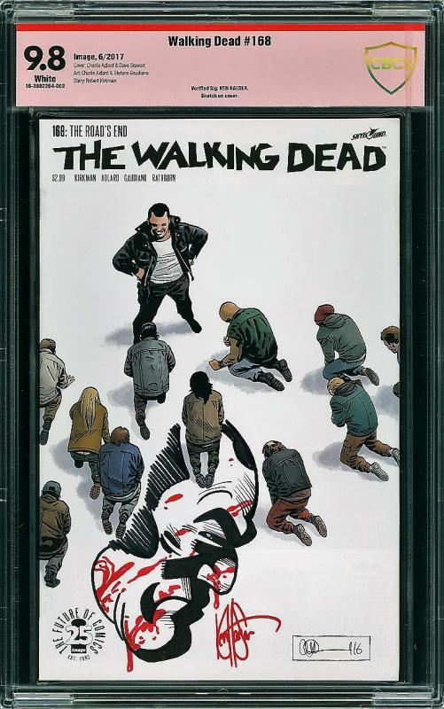 Walking Dead #168 (Image, 2017) CBCS 9.8