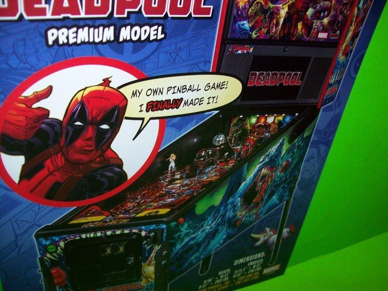 Deadpool Pinball Flyer Marvel Comics Premium Edition Promo Art Print Sheet Stern