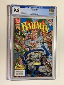 Batman 473 CGC 9.8 white pages Dc Comics