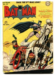 Batman #24 1944- classic cover- DC Golden Age-comic book