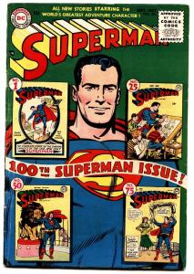 Superman #100 classic cover golden-age DC 10 cent