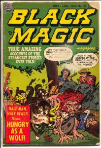 Black Magic #31 1954-Prize-Jack Kirby horror cover & story-violence-G