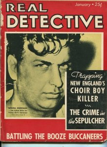 REAL DETECTIVE-JANUARY 1936-SPICY-MURDER-KIDNAP-RAPE-good G