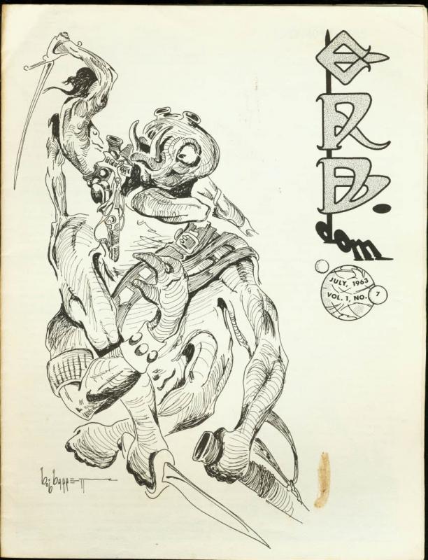 ERB-Dom #7 1963-TARZAN / Edgar Rice Burroughs Fanzine FN