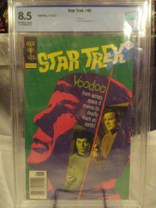 Star Trek #45 CBCS 8.5 VF+ (GOLD KEY 1977) Photo Cover Kirk Spock McCoy