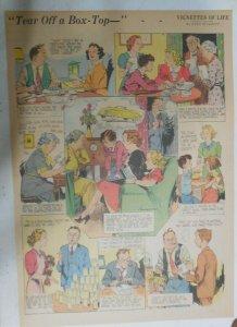 Vignettes Of Life by Kemp Starrett Box Top  ! 2/4/1940 Size: 15 x 22 inch