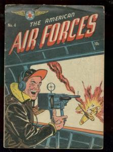 AMERICAN AIR FORCES #4 1945-PATRIOTIC WW II ERA COMIC  VG