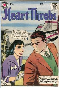 HEART THROBS #62 1959 DC-ROMANCE-TORRID-AIRPLANE VG
