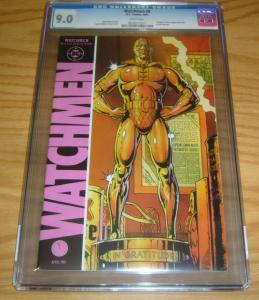 Watchmen #8 CGC 9.0 alan moore - dave gibbons - death of nite owl 1987 dc comics