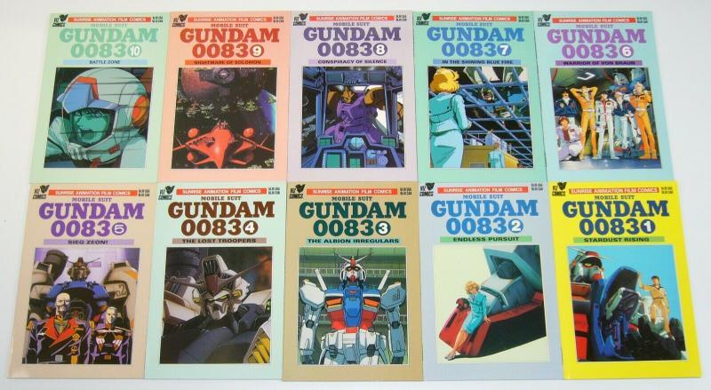 Mobile Suit Gundam 0083 #1-13 VF/NM complete series - viz manga - sunrise set