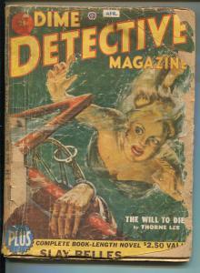 DIME DETECTIVE-04/1951-POPULAR PUBS-HARD BOILED-CRIME-PULP-ROBERT TURNER-pr