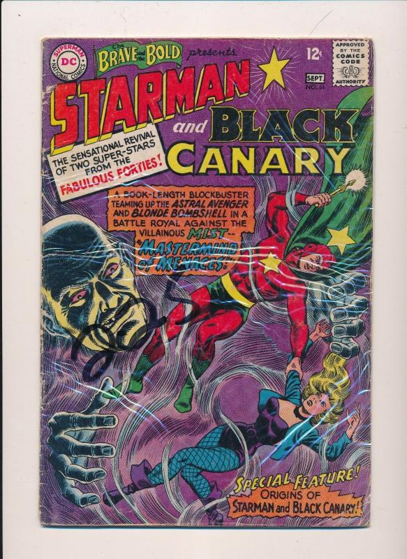 Brave and the Bold STARMAN and BLACK CANARY #61 DC Comics ~ G/VG (HX331)