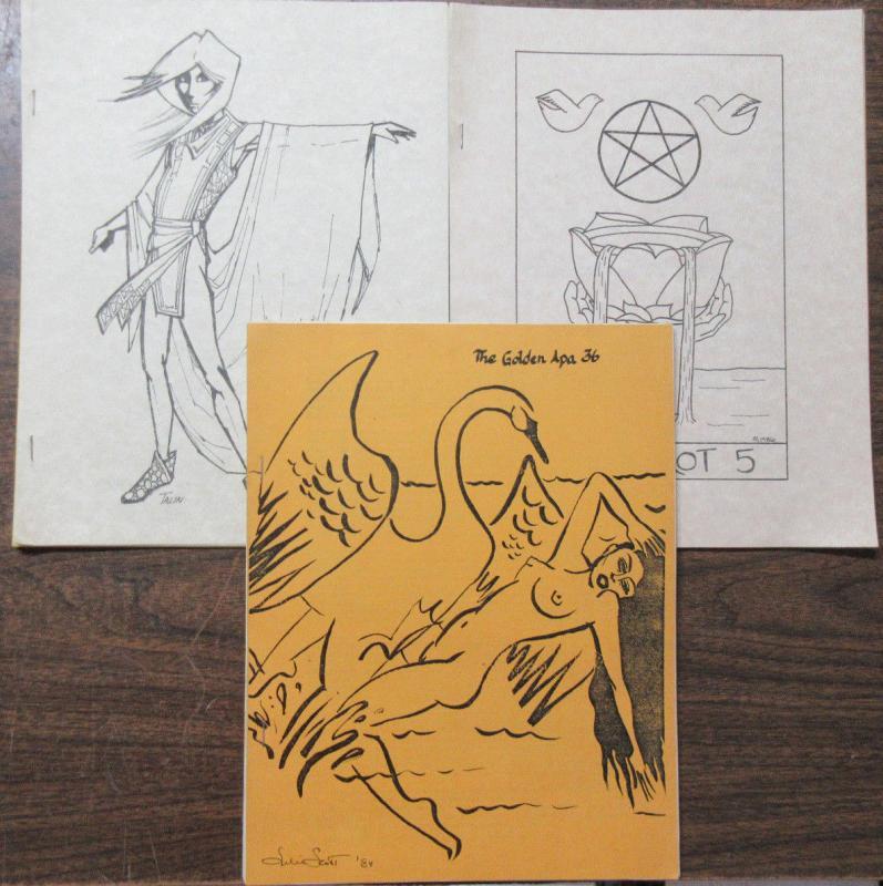 APA Tarot Fan Mimeozine from the 1980s Lot Golden Arcana John P. McClimans Rita