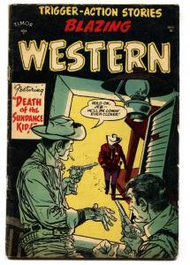 Blazing Western #4-1954-Timor-Mort Drucker-Billy the Kid-comic book