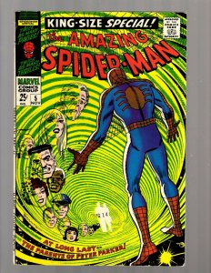 Amazing Spider-Man King-Size Special # 5 FN Marvel Comic Book Parker's Dad JK7