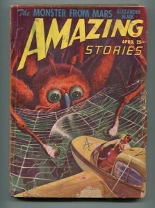 AMAZING STORIES PULP APRIL 1948-ALEXANDER BLADE-ALLEN ST. JOHN-G