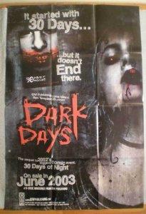 30 DAYS OF NIGHT - DARK DAYS Promo Poster, 2003,  Vampires, Unused