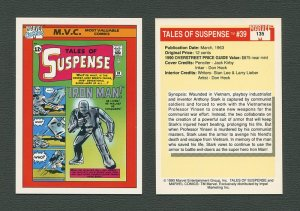 1990 Marvel Comics Card  #135 (Tales of Suspence #39 Cover) / MINT