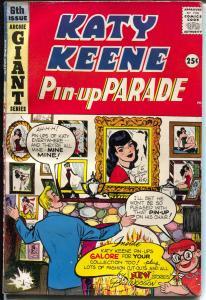 Katy Keene Pin-Up Parade #6 1959-Bill Woggon-fashions-pin-ups-paper dolls-VG