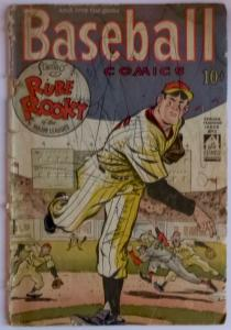 Baseball Comics #1 (Will Eisner, 1949) -- Low grade reading copy.