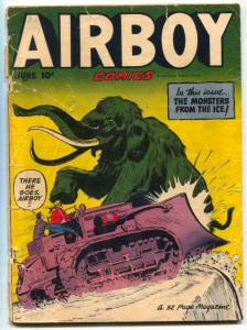 Airboy Comics Vol 7 #5 1950- elephant cover FAIR