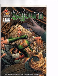 Crossgen Comics Sojourn #8 Greg Land Art Signed By Ron Marz With COA
