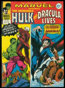 MIGHTY WORLD OF MARVEL #248-DRACULA-HULK-BRITISH VG