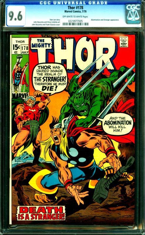 Thor #178 CGC 9.6 Abomination & Stranger Appearance