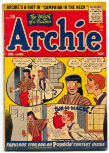 Archie #75 1955 -Betty and Veronica Jughead Golden-Age VG-