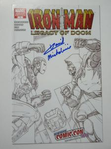 Ironman Legacy of Doom Marvel 2008 #1 Variant Edition Signed by David Michelinie