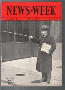 Newsweek 6/15/1935-Milt Gross-Chiang Kai-shek-Walter Hagen-FN