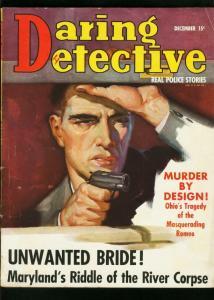 DARING DETECTIVE DEC 1938-TRUE CRIME-SECRET CRYPT-VG VG