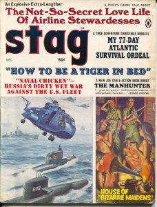 Stag 12/1968-Atlas-Russian Wet War-cheesecake-pulp crime-Mort Kunstler-VG/FN