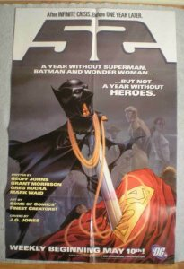 52 Promo poster, Batman, Superman, 22x34, 2006, Unused, more Promos in store