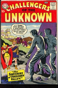 Challengers of the Unknown #6 (1959) color touch on covers