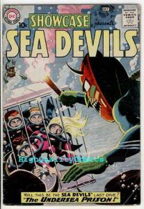 SHOWCASE #28, VG+, 2nd Sea Devils, Russ Heath, 1960, Undersea Prison