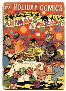 Holiday Comics #6 1952- LB Cole Birthday cover- Animals on Parade G