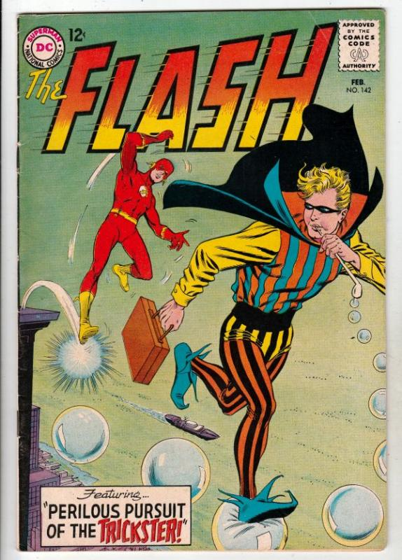 Flash, The #142 (Feb-64) FN- Mid-Grade Flash