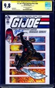 G.I. Joe #266 VARIANT CGC SS 9.8 signed ORIGINAL Zartan Sketch signed J EDWARDS