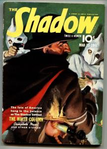SHADOW 1941 March 15-KKK cover- STREET AND SMITH-RARE PULP vf