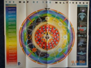 MAP OF THE MULTIVERSE  Promo Poster, 24 x 30,  DC Unused more in our store 550
