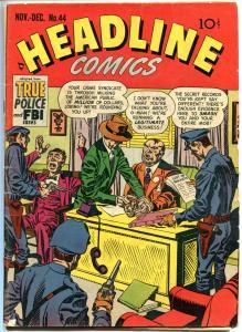 HEADLINE COMICS #44, VG+, Jack Kirby, Joe Simon, 1950, Golden Age, Pre-code