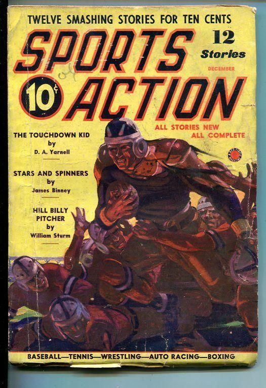 SPORTS ACTION-#1-DEC 1937-PULP FICTION-SOUTHERN STATES PEDIGREE-vg