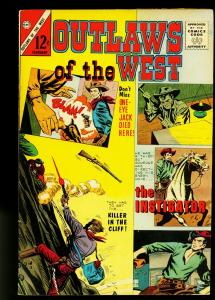 Outlaws of the West #41 1963- Gunfight Cover- Charlton Western- VF