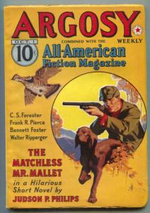 Argosy Pulp October 1 1938- Matchless Mr Mallet- Hunting cover