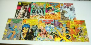Shattered Earth #1-9 FN/VF complete series - ex-mutants - jim balent covers set