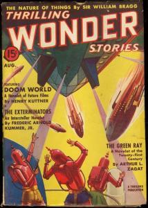 THRILLING WONDER STORIES 1938 AUG-COOL SCI-FI PULP VG