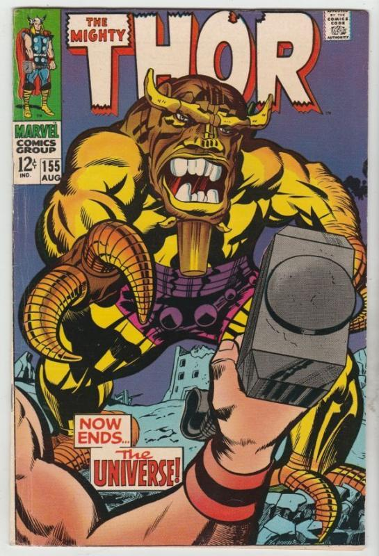 Thor #155 The Mighty strict FN/VF+ 7.5 High-Grade   Appear - Mangog    Richmond